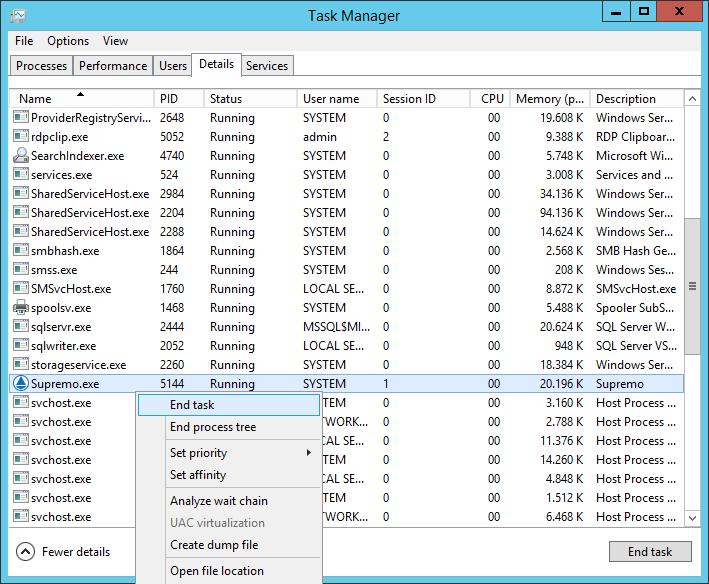 Was tun, wenn Sie Supremo in einer RDP (Remote Desktop Protocol) Sitzung nicht öffnen können